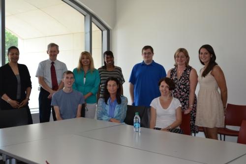 Dr. Vorbach with the DLIS Graduate Assistants, Dr. Lee & Dr. Angel